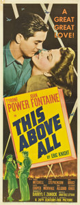 "Movie Posters:War, This Above All (20th Century Fox, 1942). Insert (14"" X 36"").. ..."