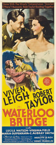 "Movie Posters:Drama, Waterloo Bridge (MGM, 1940). Insert (14"" X 36"").. ..."