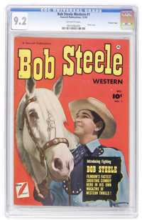 Bob Steele Western #1 Crowley Copy pedigree (Fawcett, 1950) CGC NM- 9.2 Off-white pages