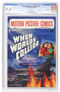 Golden Age (1938-1955):Science Fiction, Motion Picture Comics #110 When Worlds Collide - Crowley Copypedigree (Fawcett, 1952) CGC NM 9.4 Off-white pages....