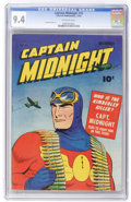 Golden Age (1938-1955):Superhero, Captain Midnight #15 (Fawcett, 1943) CGC NM 9.4 Off-white pages....