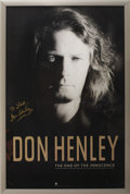 Music Memorabilia:Autographs and Signed Items, Don Henley Signed Poster....