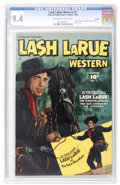Golden Age (1938-1955):Western, Lash LaRue Western #1 Hawkeye pedigree (Fawcett, 1949) CGC NM 9.4Off-white to white pages....