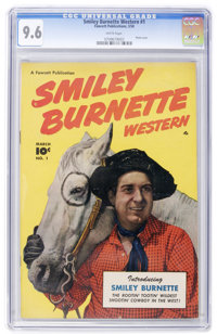 Smiley Burnette Western #1 (Fawcett, 1950) CGC NM+ 9.6 White pages