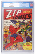 Golden Age (1938-1955):Superhero, Zip Comics #1 (MLJ, 1940) CGC VF/NM 9.0 Off-white pages....
