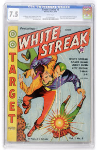 Target Comics #5 (Novelty Press, 1940) CGC VF- 7.5 White pages