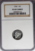 Proof Roosevelt Dimes: , 1956 10C PR69 Cameo NGC. NGC Census: (53/0). PCGS Population(10/0). Numismedia Wsl. Price for NGC/PCGS coin in PR69: $120...
