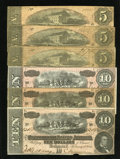 Confederate Notes:Group Lots, $45 Face.. ... (Total: 6 notes)