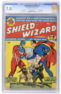 Golden Age (1938-1955):Superhero, Shield-Wizard Comics #1 (MLJ, 1940) CGC FN/VF 7.0 Cream to off-white pages....