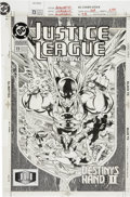 Original Comic Art:Covers, Dan Jurgens and Dick Giordano Justice League of America #73Cover Original Art (DC, 1993)....