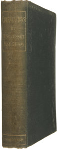 Books:First Editions, W. Somerset Maugham. Orientations. London: T. Fisher Unwin,1899.. First edition, second issue. Maugham's signatur...