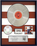 Music Memorabilia:Awards, Bruce Springsteen Born in the USA Platinum Album Award....