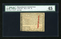 Colonial Notes:Massachusetts, Massachusetts May 5, 1780 $8 PMG Choice Extremely Fine 45....