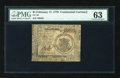 Colonial Notes:Continental Congress Issues, Continental Currency February 17, 1776 $1 PMG Choice Uncirculated63....
