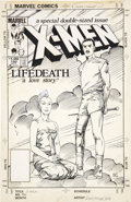 "Original Comic Art:Covers, Barry Windsor-Smith Uncanny X-Men #186 ""Lifedeath"" Cover Original Art (Marvel, 1984)...."