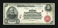 National Bank Notes:Pennsylvania, Philadelphia, PA - $5 1902 Red Seal Fr. 587 The First NB Ch. # (E)1. ...