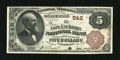 National Bank Notes:Pennsylvania, Philadelphia, PA - $5 1882 Brown Back Fr. 467 The Corn Exchange NBCh. # 542. ...