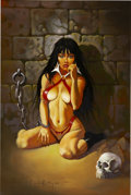 Original Comic Art:Covers, Ken Kelly Vampirella Painting Original Art (2003)....