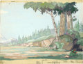 Animation Art:Production Drawing, Moose Hunters Animation Production Background PaintingOriginal Art (Disney, 1937)....