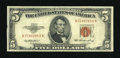 Error Notes:Skewed Reverse Printing, Fr. 1532 $5 1953 Legal Tender Note. Very Fine.. ...