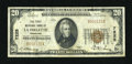 National Bank Notes:Tennessee, La Follette, TN - $20 1929 Ty. 1 The First NB of La Follette Ch. #7225. ...