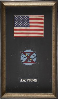Gemini 10 Mission Commander John Young's Flown Space Suit Patches (Three) Directly from his Personal Collection, Certifi...