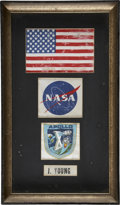 Explorers:Space Exploration, Apollo 10 Command Module Pilot John Young's Flown Space SuitPatches (Four) Directly from his Personal Collection, Certifieda...