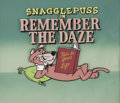 animation art:Production Cel, Snagglepuss in Remember the Daze Title Card Original Art(Hanna-Barbera, 1961)....