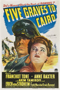 "Movie Posters:War, Five Graves to Cairo (Paramount, 1943). Autographed One Sheet (27""X 41"").. ..."
