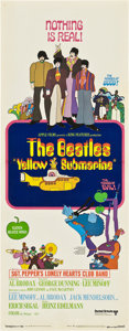 "Movie Posters:Animated, Yellow Submarine (United Artists, 1968). Insert (14"" X 36"").. ..."