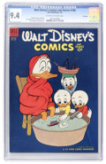 Golden Age (1938-1955):Cartoon Character, Walt Disney's Comics and Stories #160 File Copy (Dell, 1954) CGC NM9.4 Off-white to white pages....