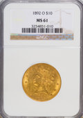 Liberty Eagles: , 1892-O $10 MS61 NGC. NGC Census: (259/125). PCGS Population (114/121). Mintage: 28,688. Numismedia Wsl. Price for NGC/PCGS ...