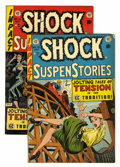 Golden Age (1938-1955):Horror, Shock SuspenStories #13 and 14 Group (EC, 1954).... (Total: 2 ComicBooks)