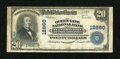 National Bank Notes:Pennsylvania, Philadelphia, PA - $20 1902 Plain Back Fr. 661 The Queen Lane NB inGermantown Ch. # 12860. ...