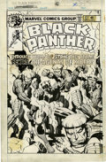 Original Comic Art:Covers, Jack Kirby and Joe Rubinstein Black Panther #12 CoverOriginal Art (Marvel, 1978)....