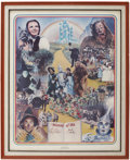 Movie/TV Memorabilia:Autographs and Signed Items, Jack Haley and Ray Bolger Signed Wizard of Oz Poster(Nostalgia Merchant, 1977). ...
