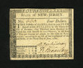 Colonial Notes:New Jersey, New Jersey June 9, 1780 $4 Very Fine....