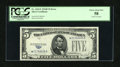 Error Notes:Obstruction Errors, Fr. 1654* $5 1934D Wide I Silver Certificate. PCGS Choice About New58.. ...