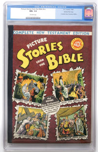 Picture Stories from the Bible Complete New Testament (40¢) Gaines File pedigree 4/12 (EC, 1946) CGC NM+ 9.6 Off-wh...