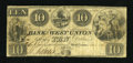 Obsoletes By State:Ohio, West Union, OH- The Bank of West Union $10 Nov. 1, 1838 G56a Wolka2824-24. ...