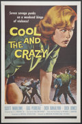 "Movie Posters:Bad Girl, The Cool and the Crazy (American International, 1958). One Sheet (27"" X 41""). Bad Girl.. ..."