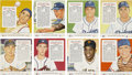 Baseball Cards:Sets, 1955 Red Man Baseball Complete Set (50) - Most With Tabs. ...