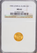 Commemorative Gold, 1905 G$1 Lewis and Clark MS62 NGC....