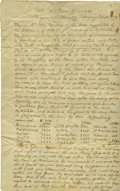"""Autographs:Military Figures, [Revolutionary War] Henry Ward Manuscript Document Signed as Rhode Island Secretary of State. One page, two sided, 7.5"""" x 11..."""