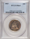 Proof Seated Quarters, 1883 25C PR64 PCGS....