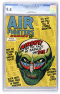 Golden Age (1938-1955):Adventure, Air Fighters Comics V2#8 Crowley Copy pedigree (Hillman Fall, 1944) CGC NM 9.4 Cream to off-white pages....