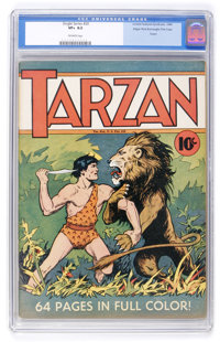 Single Series #20 Tarzan - Edgar Rice Burroughs File Copy (United Features Syndicate, 1940) CGC VF+ 8.5 Off-white pages...