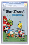 Golden Age (1938-1955):Cartoon Character, Walt Disney's Comics and Stories #121 File Copy (Dell, 1950) CGC NM9.4 Off-white to white pages....