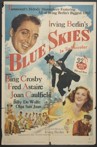 "Blue Skies (Paramount, 1946). One Sheet (27"" X 41""). Musical"