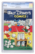 Golden Age (1938-1955):Cartoon Character, Walt Disney's Comics and Stories #120 File Copy (Dell, 1950) CGC NM 9.4 Off-white to white pages....